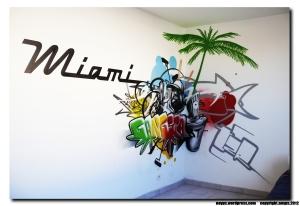 décor graffiti chambre d'enfant marseille